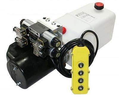 Flowfit ZZ004235 Hydraulik-Aggregat, mit doppeltem Hubmagnet, 8-Liter-Tank, 12 V DC