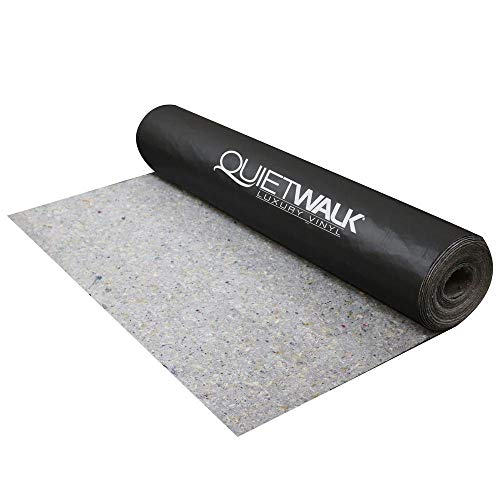 QuietWalk QWLV100 100 Square Foot Luxury Vinyl Acoustical Sound Reflecting Moisture Resistant Environmentally Friendly Flooring Underlayment