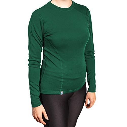 Alpin Loacker Merino Shirt Langarm 230g/m   100% Merinowolle Sweatshirt Frauen   wärmeregulierendes Langarmshirt für Frauen Sport & Freizeit   Größenwahl (grün, s)