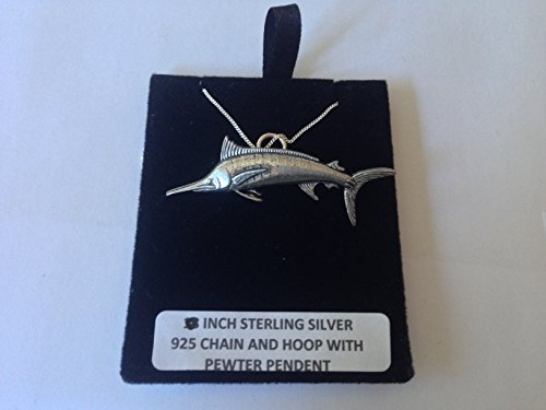 Collar de plata de ley 925 con cadena de 45,7 cm con prideindetails en caja de regalo