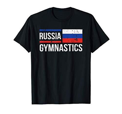 Russia Gymnastics Flag Rhythm Gymnast Tumbling Acrobat Gift T-Shirt