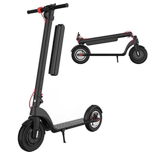 Scooter Eléctrico Patinete Eléctrico Plegable para Adultos Velocidad De hasta 40 Km / H 65 Km Scooter Eléctrico De Largo Alcance para Paseos Diarios 500W-X9