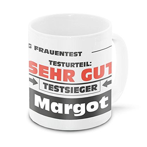 Namens-Tasse Margot mit Motiv Stiftung Frauentest, weiss | Freundschafts-Tasse - Namens-Tasse