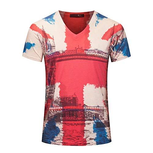 Heren compressieshirt persoonlijkheid korte mouwen T-shirt voor heren digitale druk Europa en Amerika trends herenkleding oversized