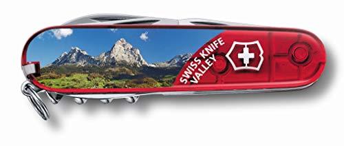 Victorinox Offiziersmesser Climber, rot transparent, Swiss Knife Valley