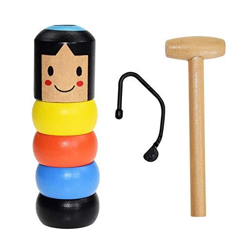 Zaloife Unbreakable Wooden Man Magic Toy, Hölzernes Pädagogisches Spielzeug, Zauberrequisiten Holz, Kinder Erwachsene Automatic Assemble Toy, Eltern-Kind-Interaktion Spielzeug