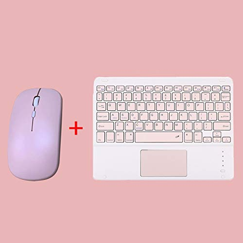 weichuang Keyboard Mini Wireless Keyboard Bluetooth Keyboard For ipad Phone Tablet Rubber keycaps Rechargeable keyboard For Android iOS Windows keyboard (Color : K Pink and M Pink)