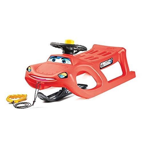 Rot Schlitten Happy Car zigi-zet vielleicht Lenkrad und Klaxon