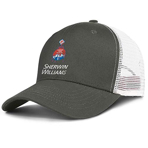 WENL Sherwin-Williams Men Women Novelty Mesh Trucker Hat Sports Golf Cap Adjustable Snapback