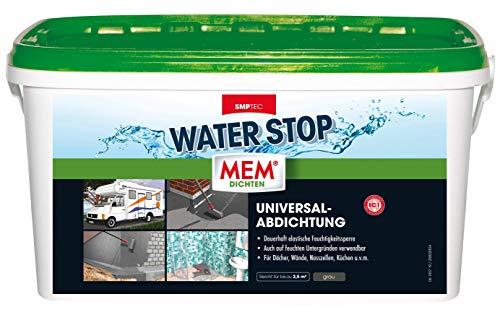 MEM Water Stop - 6 kg - Dichtmasse - Universalabdichtung und Feuchtigkeitssperre für z.B. Dächer, Wände, Bad und Dusche - Rissüberbrückung – 30822568