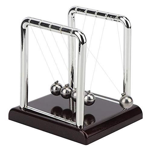 Cuna de Newton, Bola de Péndulo de Equilibrio de Forma Cuadrada Bolas de Metal Sólido Juguetes Clásicos Escritorio de Oficina Ornamento FíSica Juguetes para Decoración del Hogar, Regalo para Niños(S)