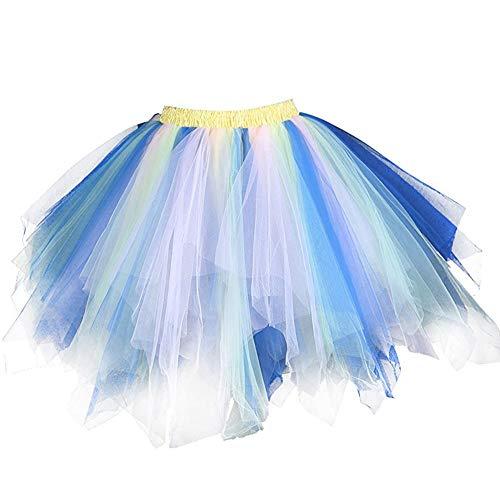 Happy Cherry Falda de Tul para Mujer de tutú de los años de Burbuja de Ballet Enagua Corta Retro ocasión Color Caramelo