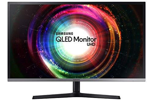 Samsung Monitor U32H850 Monitor 32'' 4K Ultra HD, 3840 x 2160, Quantum Dot, 1.07 Miliardi di Colori, 60 Hz, 4 ms, 2 HDMI, 1 DP, 1 Mini DP, Regolabile in Altezza, Nero