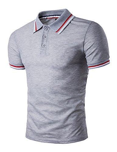 Legou Homme Polos T-Shirt de Sport pour Golf Gris X-Large