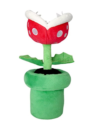 "Sanei Super Mario All Star Collection AC27 Piranha Plant 9"" Plush"