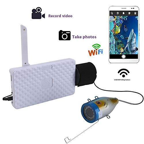Haiyu onderwatercamera, draadloos, aluminiumlegering, 720P, WiFi, 15 m, voor Android iOS, ondersteunt video- en foto-opnames, met camera 1000 TVL