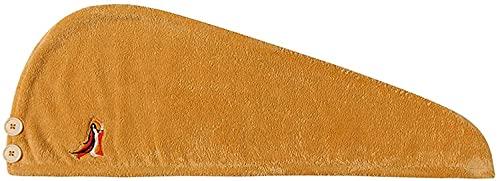Sgxiyue Tapa de Secado para el Cabello Mujeres Súper Absorbente Secado rápido Dibujos Animados Lindo Tapa de Secado rápido Secado Pelo Pelo Casera Sombrero Champú (Color : Yellow)