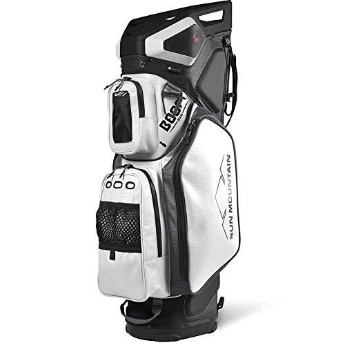 Sun Mountain 2021 Boom Bag 5-Way Golf Cart Bag (Black-White-Gray)
