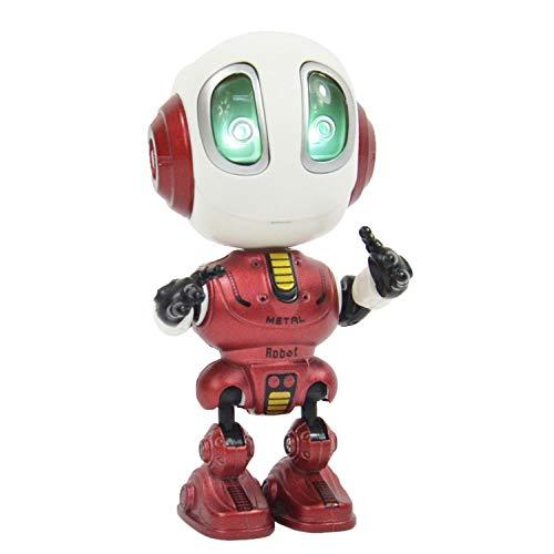 Kögler 90704 - Witziger Roboter, mit Sound- und Lichteffekt, plappert alles mit lustiger Stimme nach, voll beweglich, ca. 12 cm groß, ideal als spaßiges Geschenk, sortiert in 3 Farben