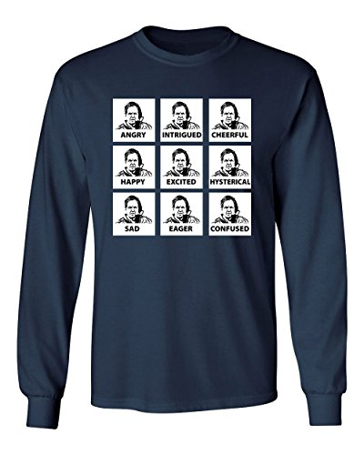 RIVEBELLA Bill Belichick Funny Mens Long Sleeve T-Shirt Navy