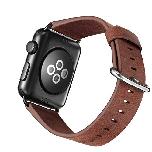 TEZER Kompatibel 5 Farben Band Für Apple Watch 38/42mm, Wax Series iWatch Leder Band für Apple Watch Series 3, Series 2, Series 1,42mm Uhrenarmband