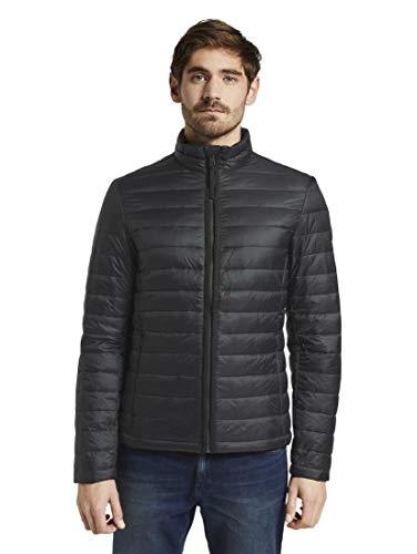 TOM TAILOR Herren Jacken & Jackets Leichte Jacke mit Stehkragen Black,XL