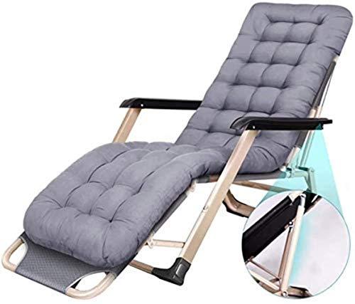 Chairs Sun Lounger Leisure with Pillows Reclining Garden Zero Gravity Patio Lounger Oversize Folding Sun Loungers Recliners Garden Outdoors Recliner Beach Armchair (Color Blue),Gray