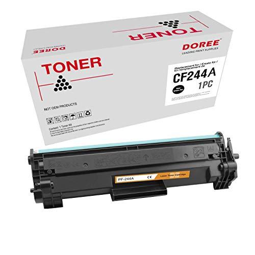 DOREE CF244A Tonerersatz für HP CF244A , mit HP Laserjet Pro M28w M15w M15a M16a M16w MFP M28a MFP M29a MFP M29w Drucker, 1 Packung Schwarz mit Chip