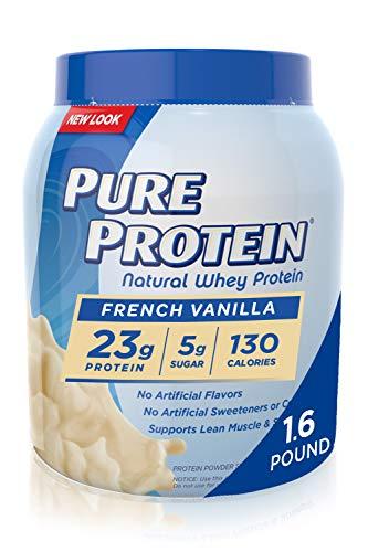 Pure Protein Powder, Natural Whey Protein, Low Sugar, Gluten Free, Vanilla Cream, 1.75 lbs, 2 Pack