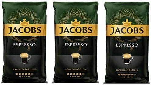 Jacobs Espresso Whole Bean Coffee 500 Gram / 17.6 Ounce (Pack of 3)