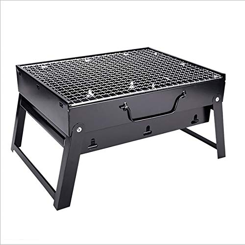 HKIASQ Folding Barbecue Grill Outdoor, Household Charcoal Carbon Grill BBQ, Barbecue Grill, Charcoal Barbecue Desk Tabletop, Steel Smoker BBQ, for Picnic Garden Terrace Camping Travel