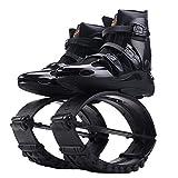 Zapatos de Salto de Rebote para Mujer para Hombre fácilmente espaciados antigravedad para Correr Botas de Salto Entrenamiento, pérdida de Peso, Zapatos de Salto para Ejercicio(Negro) (XXL)