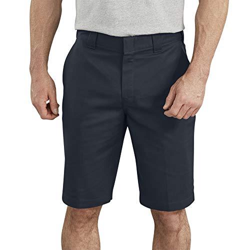 Dickies Men's 11 Inch Flex Flat Front Active Waist Short, Dark Navy, 34