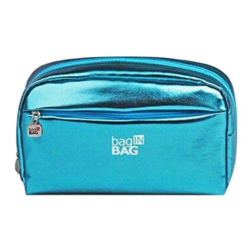 Grande Capacité étanche Maquillage Voyage cosmétique sac à main/Case Bleu