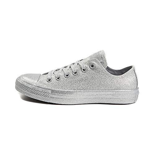 Converse Chuck Taylor All Star (Mens 6/Womens 8, Silver Glitter 9593)