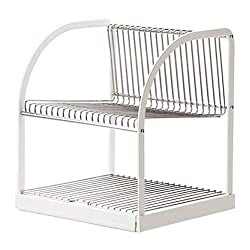 commercial IKEA existing dish dryer silver color white 902.339.67 size 12½x11½x14¼ ikea white dishes