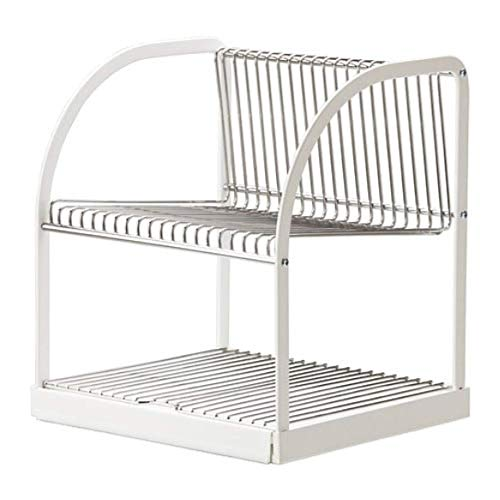 IKEA Bestaende Dish Drainer Silver Color White 902.339.67 Size 12 ½x11 ½x14 ¼