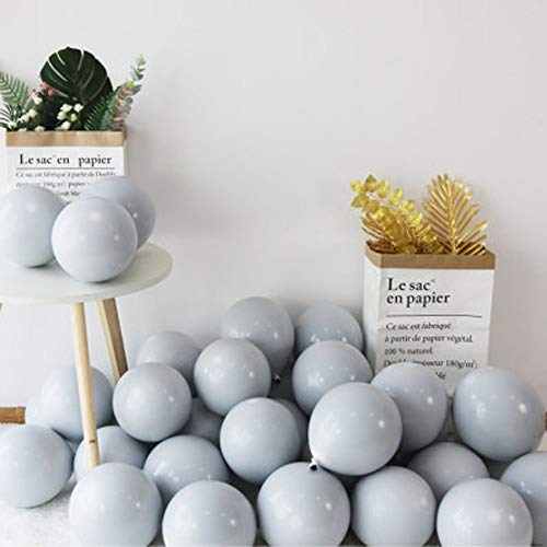 """100pcs 10"""" Party Decoration Pastel color Balloons Macaron Candy Colored Latex Balloons for Birthday Wedding Engagement Anniversary Christmas Festival-Macaron Gray"""