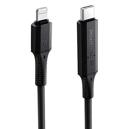 PowerArc ArcWire - Cable USB-C a Lightning para iPhone 11/11 Pro/11 Pro Max/SE/XS/X/8/8 Plus/7/7 Plus, iPad Air/Mini, AirPods, AirPods Pro y más