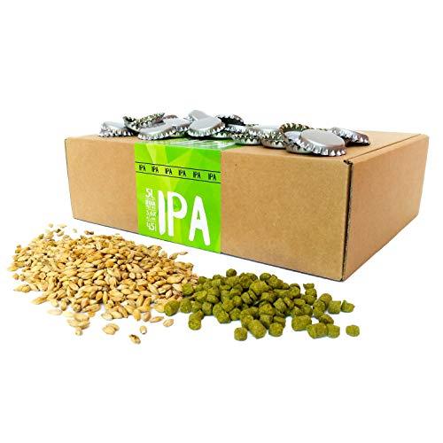 Eazy Brewing® Recambio para Kit de elaboración de Cerveza de 5 litros - Cerveza IPA (India Pale Ale) - para Preparar su Propia Cerveza Artesanal – Instrucciones en Español