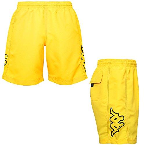 Kappa Badeshorts für Herrem mit Logo, Gelb - Yellow Grey Shadow - Größe: XX-Large