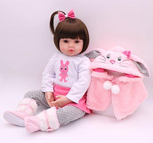 ZIYIUI Simulazione Bambole Reborn 24 Pollici 60 Cm Realistica Morbido Silicone Vinile Bambola Reborn Femmine Reborn Baby Dolls Bambino Bambola Reborn Ragazza Ragazzo Regalo