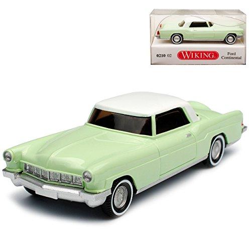 Wiking Ford Lincoln Continental Coupe Grün mit Weiss H0 1/87 Modell Auto mit individiuellem Wunschkennzeichen