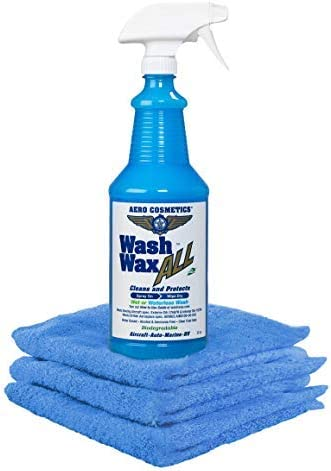 Wet or Waterless Car Wash Wax 32 oz Kit. Aircraft Quality for Your Car, RV, Boat, Motorcycle. Anywhere, Anytime, Home, Office, School, Garage, Parking Lots.: image