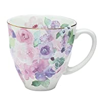 セラミック藍 花工房 マグカップ ピンク サイズ:約φ9 H8.9 01477