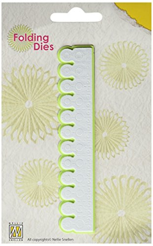Nellie's Choice Nellie's Rosette Folding Die, Round Point by Nellie's Choice