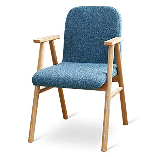 MXSXO Leisure Chairs Modern Design Dining Chairs Ventilate Fabric Cushion Oak Tables and Chairs Restaurant Furniture Living Room Armchair Ergonomic Design Bearing Weight 120kg Multi-Color Optional