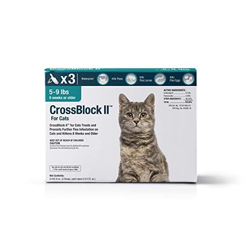 VetOne: CrossBlock II Kills & Prevents Fleas on Cats & Kittens up to 9 Lbs. 3 Applications