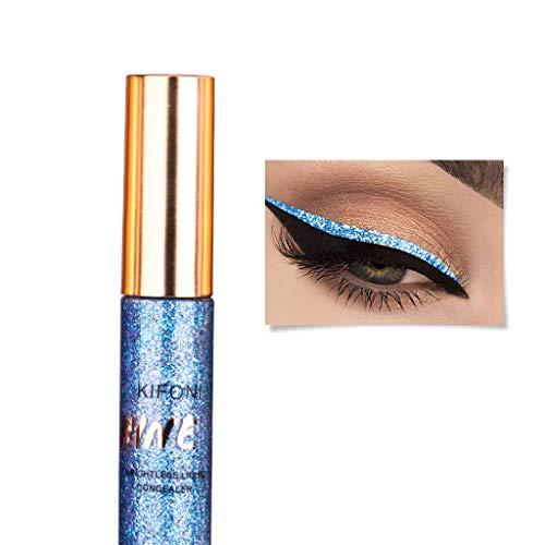ziYOU Metallic Shiny Glitter Eyes Lidschatten Wasserdichtes Glitter Liquid Eyeliner Make-up(Schwarz...