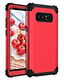 BENTOBEN Samsung Galaxy Note 8 Case, Note 8 Phone Case, 3 in 1 Heavy Duty Rugged Hybrid Hard PC Soft Silicone Bumper Shockproof Anti Slip Protective Case Cover for Samsung Galaxy Note 8 (2017), Red